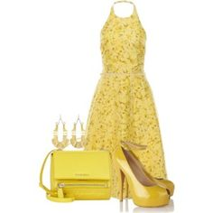 Very cute spring or summer dress yellow mellow... #Polyvore