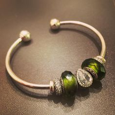 "59 Likes, 10 Comments - @pandoras_plus_princess on Instagram: ""Green with envy #pandorabracelet #jewelry #green"""