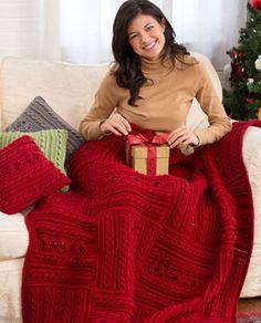 Divine Textured Throw & Pillow Crochet Pattern
