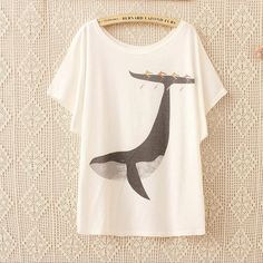 Animal print loose T-shirt