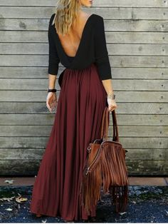 GET $50 NOW   Join RoseGal: Get YOUR $50 NOW!http://www.rosegal.com/maxi-dresses/alluring-long-sleeve-maxi-draped-open-back-dress-620111.html?seid=3091585rg620111