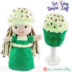 Ravelry: Ice Cream Sundae Doll pattern by Heather Boyer