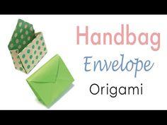 Origami Paper Handbag Shape Envelope - Origami Kawaii〔 and 🛍️ Purses and Bags Diy Origami, Origami Gift Bag, Origami Wallet, Origami Simple, Origami Ideas, Diy Paper Bag, Paper Purse, Paper Gift Box, Gift Boxes