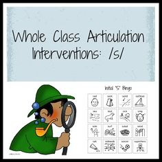 Whole Class Articulation Interventions: /s/ (plus Freebie /s/ bingo)