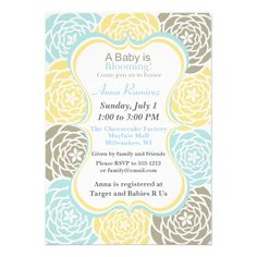 Floral Baby Shower Invitation Customizable