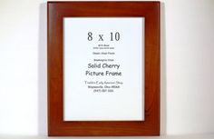 8 x 10 Handcrafted Solid Cherry Picture Frame by EarlyAmericanShop, $28.50