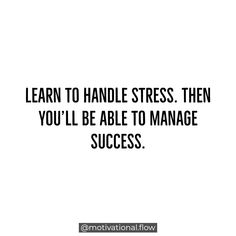 Being able to tackle stress is highly important if you are willing to go after your dreams. The better you get at handling stress, you'll be able to go after bigger and more rewarding goals. Hard work is truly important but you have to be able to balance it properly. ❄ #motivational #inspirational #successful #motivationalquotes #entrepreneurs #startuplife #quoteoftheday #motivationalquote #inspirationalquotes #entrepreneur #inspiredaily #hustle #grind #motivationalflow #typography #posters