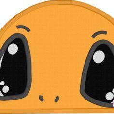 Charmander Pokemon Applique Peeker Machine Embroidery Design
