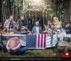 [Photographer] FarCry5 Last Supper key art recreation for upcoming short film - @steamkittens