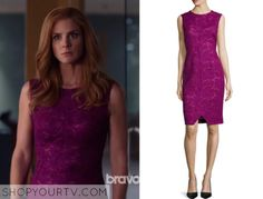 Suits: Season 5 Episode 9 Donna's Pink Lace Dress
