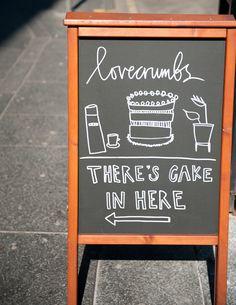 Desserts for Breakfast: Interlude: Lovecrumbs, Edinburgh, Scotland Sandwich Board, Sandwich Shops, Coffee Cafe, Coffee Shop, Cafe Sign, Cafe Menu, Chalkboard Signs, Chalkboard Lettering, Blackboards