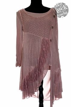 Italian Dusky Pink LAGENLOOK Tunic/Dress One Size Regular ...
