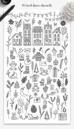 Pin by Heike Ludwig on bullet journal Christmas Doodles, Christmas Drawing, Cute Christmas Gifts, Christmas Art, Xmas, Kids Wallpaper, Planner, Make Design, Doodle Art
