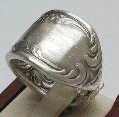 Antiker Besteck Ring, Gr. 16,6 mm, S134 von Atelier Regina auf DaWanda.com