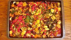 Ghiveci de legume la cuptor Vegetable Pizza, Vegan Recipes, Vegetables, How To Make, Food, Recipes, Vegane Rezepte, Essen, Vegetable Recipes