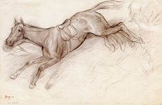 Edgar Degas Horses | Edgar Degas - The Bolting Horse