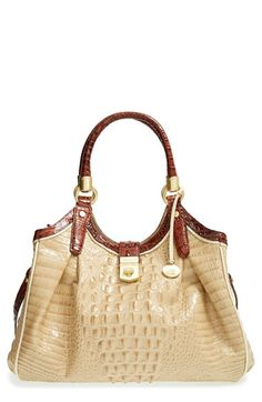 Brahmin 'Elisa' Croc Embossed Leather Handbag available at #Nordstrom