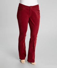 Sleek and slimming, these corduroy pants are primed for perfecting a streamlined ensemble. A wide elastic band tops of the design, providing a gap-free fit that stretches with a touch of spandex to accommodate curves.