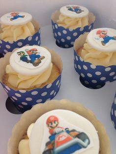 Mario bros cupcakes Birthday Cupcakes, Mario Bros, Party, Desserts, Food, Anniversary Cupcakes, Tailgate Desserts, Deserts, Essen