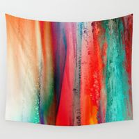 Wall Tapestries featuring Ice Curtain by Klara Acel