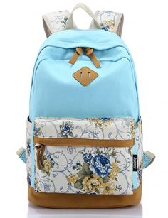 Leaper Casual Style Lightweight Canvas Laptop Backpack Cute Travel School  College Shoulder Bag Bookbags  158784ca02