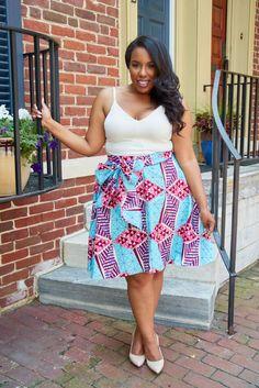 D'IYANU, African Print Midi Skirt, Circle Skirt, High-low skirt, Vintage Inspired skirt, Modern African Print Skirt, African Clothing, Latest African Fashion, African Prints, African fashion styles, African clothing, Nigerian style, Ghanaian fashion, African women dresses, Nigerian fashion, Ankara, Plus size fashion