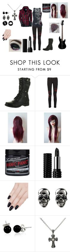 """""""Emo Goth Punk <3 #2"""" by in-seva on Polyvore featuring Reneeze, rag & bone, Alchemy England, Poizen Industries, Kat Von D, ncLA, Bling Jewelry and Andréa Candela"""