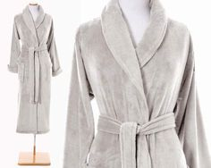 Light Grey Color Bath Robe. Pine Cone Hill Sheepy Fleece Dove Grey Robe @ J Brulee Home. http://www.jbrulee.com/pd-light-grey-color-bath-robe-pine-cone-hill-sheepy-fleece-dove-grey-robe.cfm