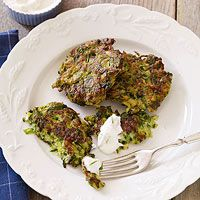 Zucchini Fritters...low in calories and easy to make year-round.