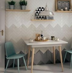 Create a unique ombre feature wall with these versatile 2x8 tiles from Euro-ceramic