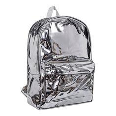 Blue Banana Hologram Backpack (Silver)