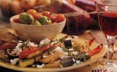 Grilled Ratatouille Salad with Feta Cheese / Angie Norwood Browne