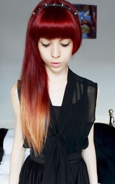 red ombre hair #7