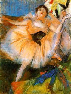 Seated Dancer ~ Edgar Degas