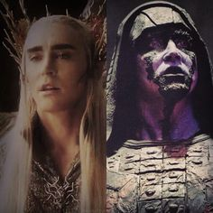 When you've seen Guardians of the Galaxy twice and the Hobbit plenty of times, that it finally dawns on you that Ronan the Accuser and Thranduil are in fact the same person.