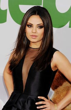 Mila Kunis- Golden Bronze Smokey Eye 1. Black liner heavy on upper  lower water linens 2. Warm Gold on lid 3. Black shadow smudged out on out 3/4 of lash line 4. Bronze Brown in outer V 5. Matte Warm Brown transition shade 6.
