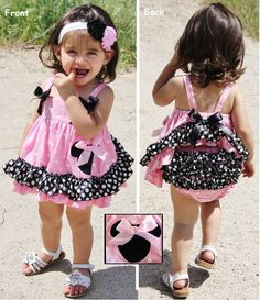 Pink Minnie Mouse Swing Top Set #new sparkleinpink.com