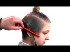 Passo a passo de um lindo corte de cabelo curto - YouTube
