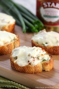 Cheesy Olive Toasts - Eat. Drink. Love.