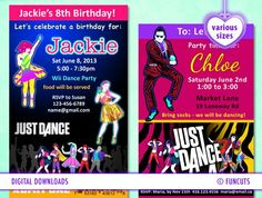 Just Dance Party Invitation Top Party Themes Pinterest Party