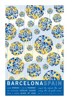 Barcelona Spain Travel Poster Print – JHill Design