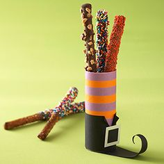 Halloween Treat Bags & Boxes: Witch Foot Goody Tube (via Parents.com)