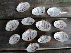 10 hand painted seashells with scriptures. by HeavenlyTreasures