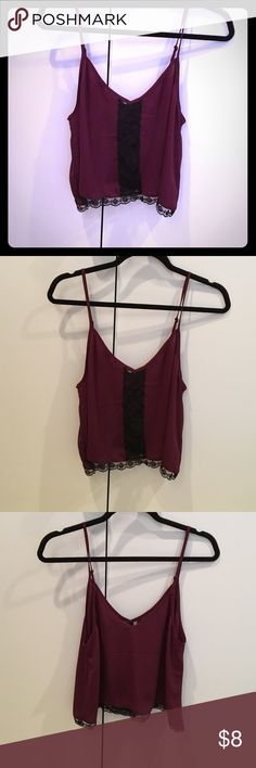 NWT Sexy flowy lacy cami NWT Sexy flowy lacy cami Forever 21 Tops Camisoles