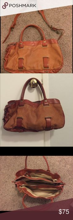 Theory Leather Purse Large Theory leather purse with three dividing compartments. Mainly used as a handbag, but came  with a long leather cross body strap. Very good condition! Please make an offer and feel free to ask any questions. Theory Bags Shoulder Bags