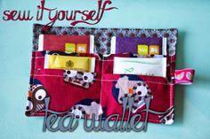 SEW IT YOURSELF: tea wallet/thee portemonnee  by Bij gebrek aan beter