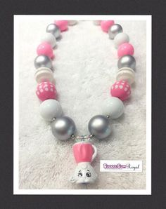 Shopkins Brenda Blender Inspired Bubblegum Bead Necklace