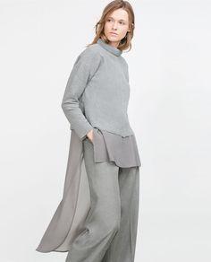 Image 2 of COMBINED ASYMMETRIC SWEATSHIRT from Zara