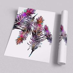 poster color feathers
