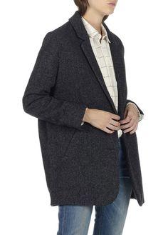 Manteau droit à chevrons  Gris by LEVIS